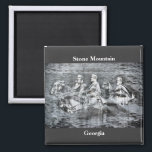 """Stone Mountain, Georgia Magnet<br><div class=""""desc"""">Confederate President Jefferson Davis and Generals Robert E. Lee and Stonewall Jackson ride foever on Stone Mountain</div>"""