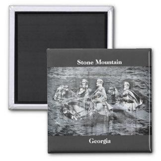 Stone Mountain, Georgia 2 Inch Square Magnet