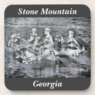 Stone Mountain Georgia Monument to the Confederacy Drink Coaster