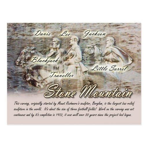Stone Mountain que talla, Georgia Tarjeta Postal