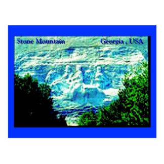 Stone Mountain que talla la postal
