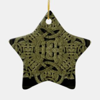 Stone Mystic Symbol Ceramic Ornament