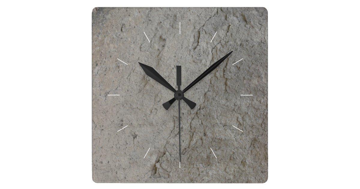 Stone Natural Image Square Wall Clock