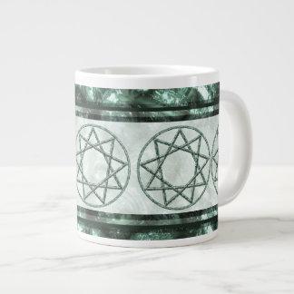 Stone Nonagram Large Coffee Mug
