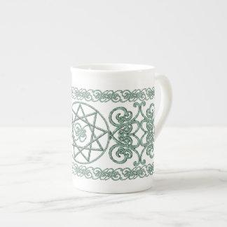 Stone Nonagram Tea Cup