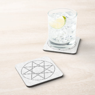 Stone Octagram Drink Coaster