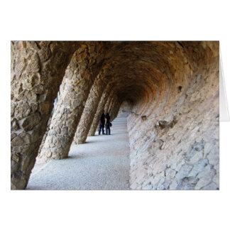 Stone Passageway Greeting Card