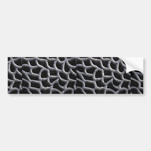 Stone pattern bumper stickers