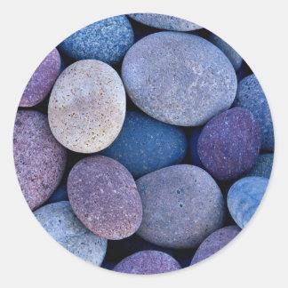 Stone Pattern Classic Round Sticker