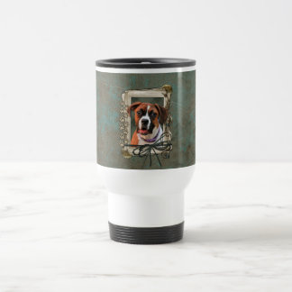 Stone Paws - Boxer - Lucy 15 Oz Stainless Steel Travel Mug