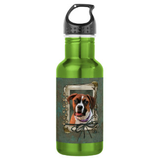 Stone Paws - Boxer - Lucy 18oz Water Bottle