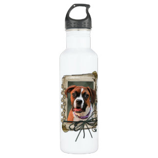 Stone Paws - Boxer - Lucy 24oz Water Bottle