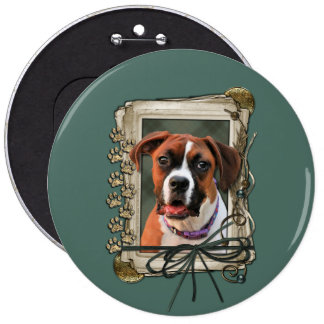 Stone Paws - Boxer - Lucy 6 Inch Round Button