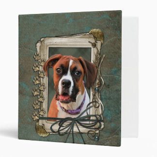 Stone Paws - Boxer - Lucy 3 Ring Binder
