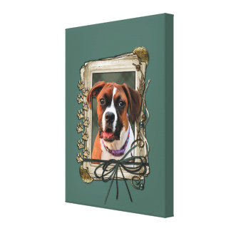 Stone Paws - Boxer - Lucy Gallery Wrap Canvas