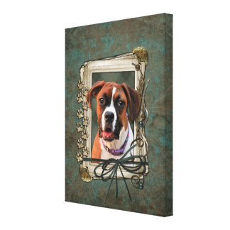 Stone Paws - Boxer - Lucy Canvas Print