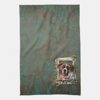 Stone Paws - Boxer - Lucy Kitchen Towel