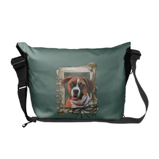 Stone Paws - Boxer - Lucy Messenger Bag