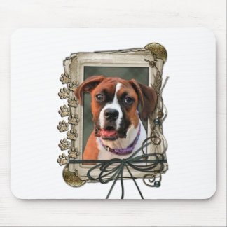 Stone Paws - Boxer - Lucy Mouse Pad