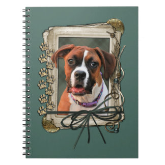 Stone Paws - Boxer - Lucy Spiral Note Books