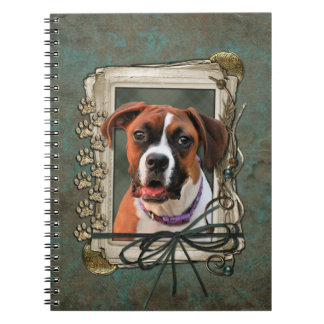 Stone Paws - Boxer - Lucy Spiral Notebooks