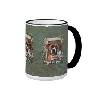 Stone Paws - Boxer - Lucy Ringer Coffee Mug