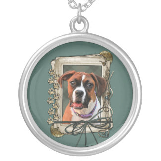 Stone Paws - Boxer - Lucy Round Pendant Necklace