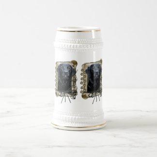 Stone_Paws_Labrador_Black Beer Stein