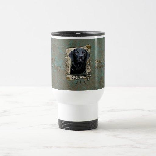 Stone_Paws_Labrador_Black 15 Oz Stainless Steel Travel Mug
