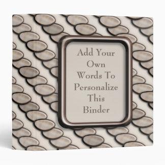 Stone Pebble Stripes 3 Ring Binder