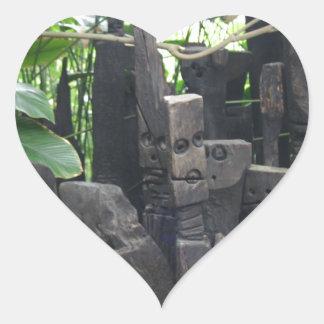 Stone People Heart Sticker