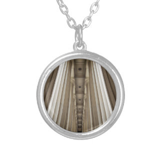 Stone Pillars Silver Plated Necklace