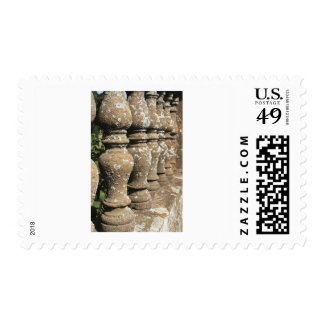 stone pillars stamp
