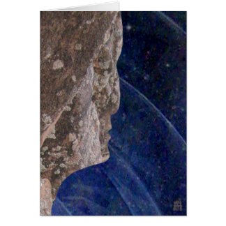 Stone Profiles: Frozen Thought Greeting Card