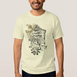 Stone Quetzacoatyl Temple 2 T Shirt