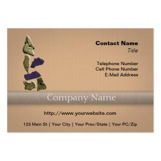 Stone Rhino Woman Business Card Template