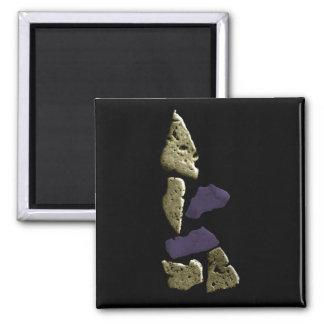 Stone Rhino Woman Refrigerator Magnets