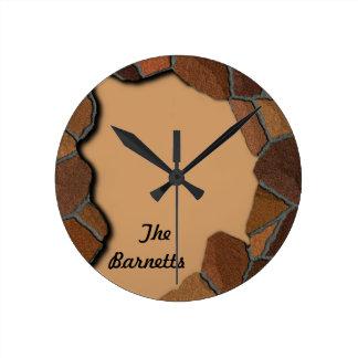 Stone Rock Customize Round Clock
