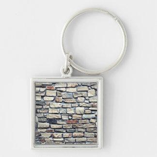 Stone Rock Wall Texture Keychain