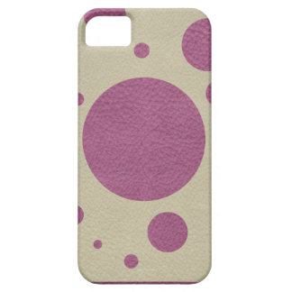Stone Scattered Spots on Cherry Leather Texture iPhone 5 Case