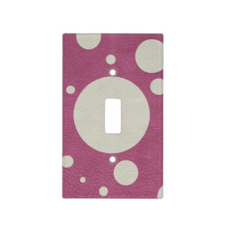 Stone Scattered Spots on Cherry Leather Texture Light Switch Covers