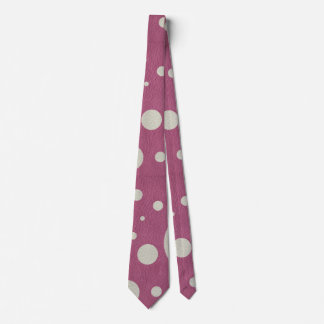 Stone Scattered Spots on Cherry Leather Texture Tie