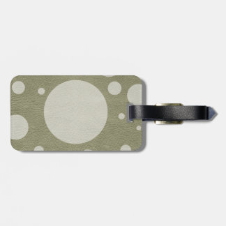 Stone Scattered Spots on Khaki Leather Texture Bag Tag