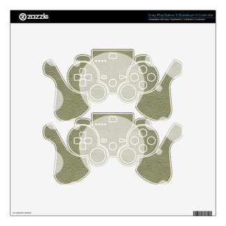 Stone Scattered Spots on Khaki Leather Texture PS3 Controller Decals