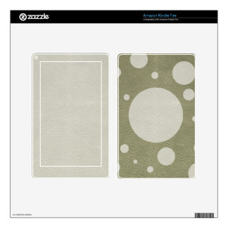 Stone Scattered Spots on Khaki Leather Texture Skins For Kindle Fire