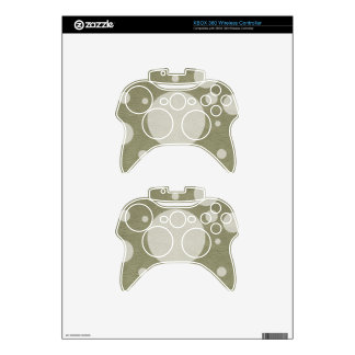 Stone Scattered Spots on Khaki Leather Texture Xbox 360 Controller Skin