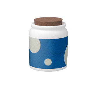 Stone Scattered Spots on Lapis Leather Texture Candy Dish