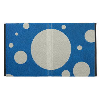 Stone Scattered Spots on Lapis Leather Texture iPad Cases