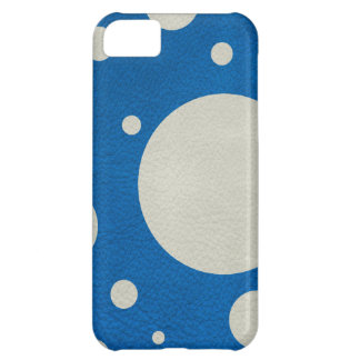 Stone Scattered Spots on Lapis Leather Texture iPhone 5C Covers