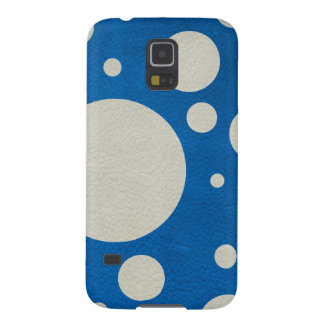 Stone Scattered Spots on Lapis Leather Texture Galaxy S5 Cover